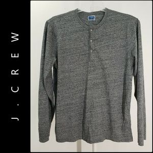J Crew Men's Henley Pullover Sweater Size XL Gray